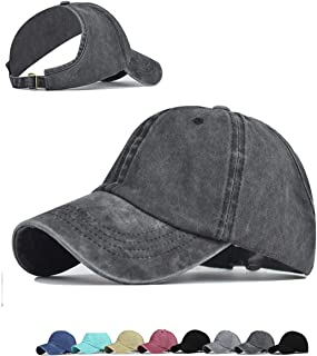 Backless Ponytail Top Hats for Women Baseball Caps High Messy Bun Baseball Hats Sun Visor Ponycaps