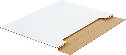 Boxes Fast BFM302214 Jumbo White Fold-Over Cardboard Mailers, 30 x 22 1/2 x 1/4 Inches, Easy Fold Mailers, Corrugated Die-Cut Shipping Boxes, Multi-Depth, Large White Mailing Boxes (Pack of 20)