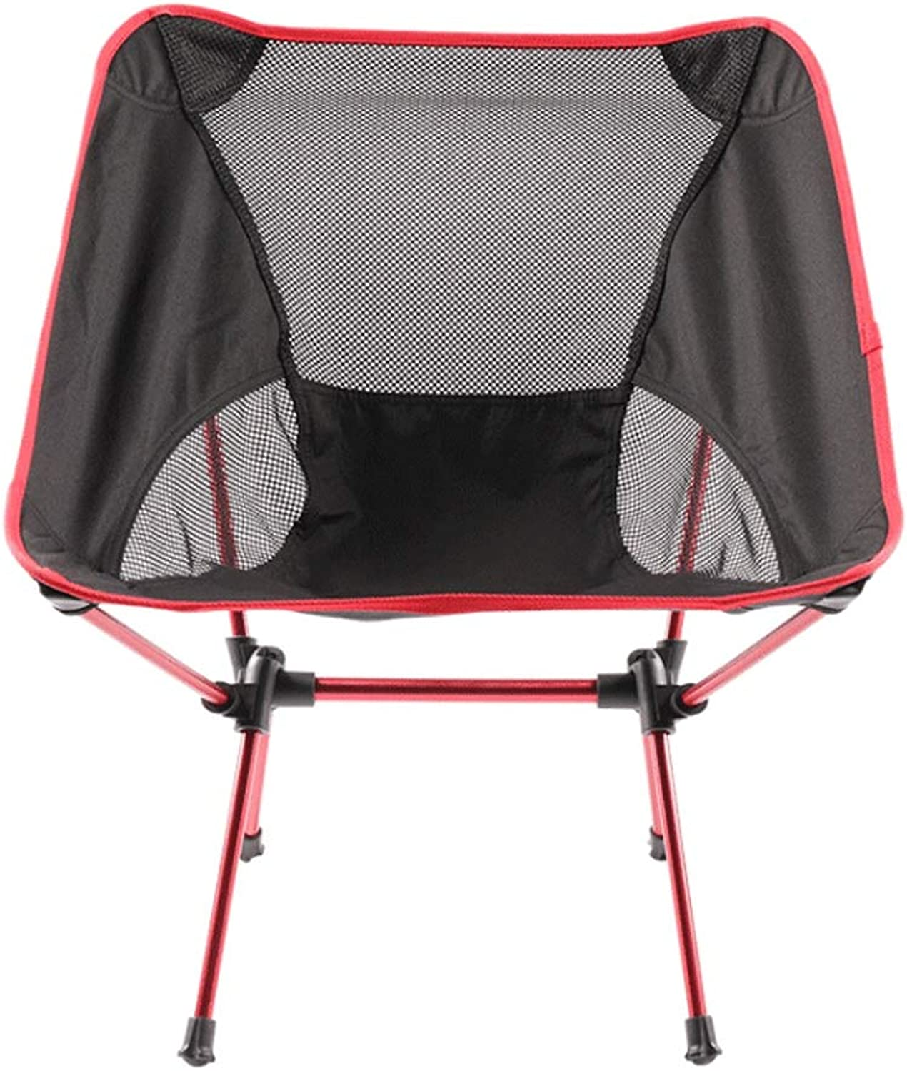 Nevy Camping Chair Lightweight Breathable Folding Compact Portable Moon Chair Festival Beach Fishing Seat,Red