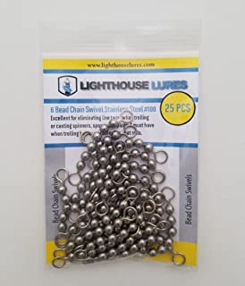 Lighthouse Lures 6 Bead Chain Swivel Stainless Steel