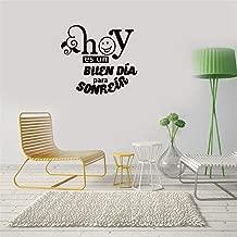 calona Unicorn Wall Stickers for Girls Hoy ES Un Buen Dia para Sonreir for Living Room Kids Room Play Room Baby Room