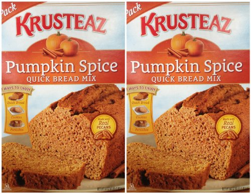 2 x 64oz Krusteaz Pumpkin Spice Quick Bread Mix Holiday (8 Pounds Total)