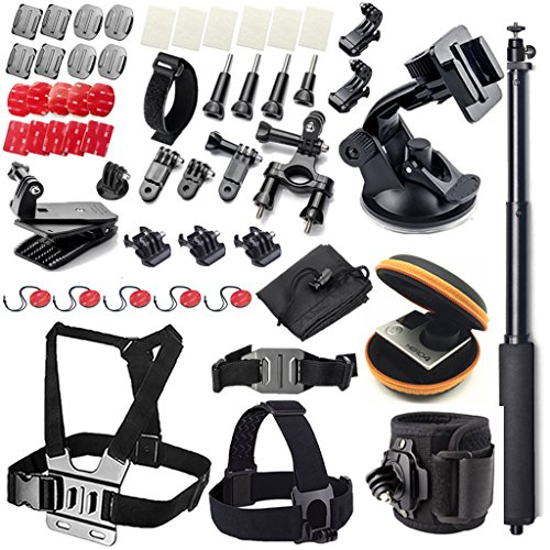 McStree 48-in-1 accesorios botiquín para GoPro HERO4 Session todas Gopro Hero4 Silver...