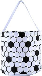 E-FirstFeeling Soccer Basket Easter Basket Easter Hunt Bag for Kids Candy Gift Bucket Tote Christmas Bag (Soccer)
