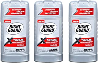 Right Guard Xtreme Odor Combat 2.6 Ounce Surge Solid (76ml) (3 Pack)
