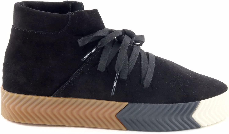 日本国内正規品アディダス オリジナルス スケート [adidas Originals by ALEXANDER WANG] [AW SKATE MID] コアブラック/コアブラック/コアブラック 23.5cm AC6850
