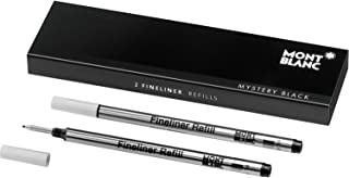 Montblanc Fineliner Refills (B) Mystery Black 105170 – Pen Refills for Fineliner and Rollerball Pens by Montblanc – 2 x Fiber Tip Pen Refill