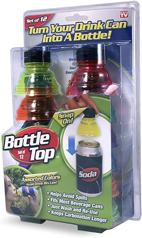 As Seen On TV BOTTLE TOPS Package Of 12 Tops