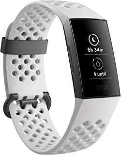 Fitbit FB410GMWT-CJK Charge 3 Se Graphite/White Silicone, Graphite/White Silicone