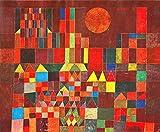 Kunstdruck auf Leinwand. Burg und Sonne. Bild von Paul Klee