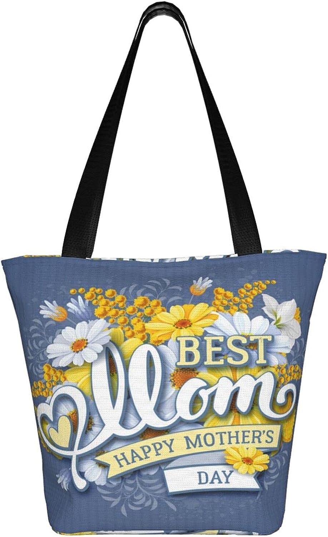 Large Tote Bag Canvas Hobo Bag Daily Work Shoulder Handbag Best Gifts for Women (Abstract Color)