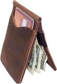 Leather Money Holder / Organizer / Wallet / Case / Card Case / Accessories, Handmade Includes 101 Year Warranty :: Bourbon Brown
