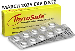 5-PACK Thyrosafe Potassium Iodide MARCH 2025 EXP DATE