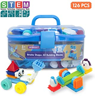 Bristle Interlocking Building Blocks for Boys and Girls, Stem Learning Idea Christmas Birthday Gifts for Early Skill Devel...