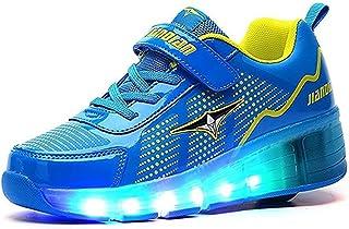 EVLYN Kids Roller Skate Shoes Llight Up Shoes Multi-Color LED Lighting Sport Sneaker
