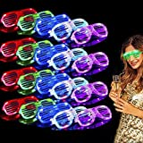 TURNMEON 20 Pack LED Glasses,6 Color Light Up Glasses Shutter Shades Glow Sticks Glasses Led Party Sunglasses Adult Kids Glow in The...