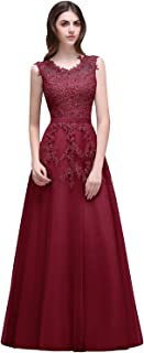 Babyonline Women's Lace A Line Formal Evening Dress for Women Long Prom Dress