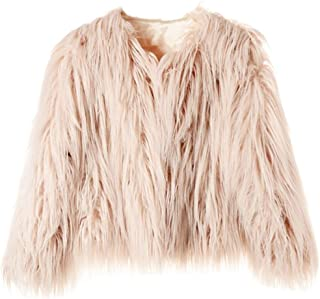Women's Shaggy Faux Fur Coat Jacket