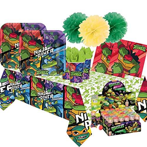 Tartarughe Ninja Kit - 5 C Addobbi Festa Compleanno con Bolle di Sapone