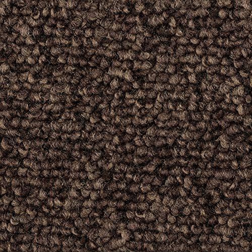 Teppichboden Auslegware | Schlinge Büro | 400 und 500 cm Breite | dunkel-braun | Meterware, verschiedene Größen | Größe: 5 x 5m