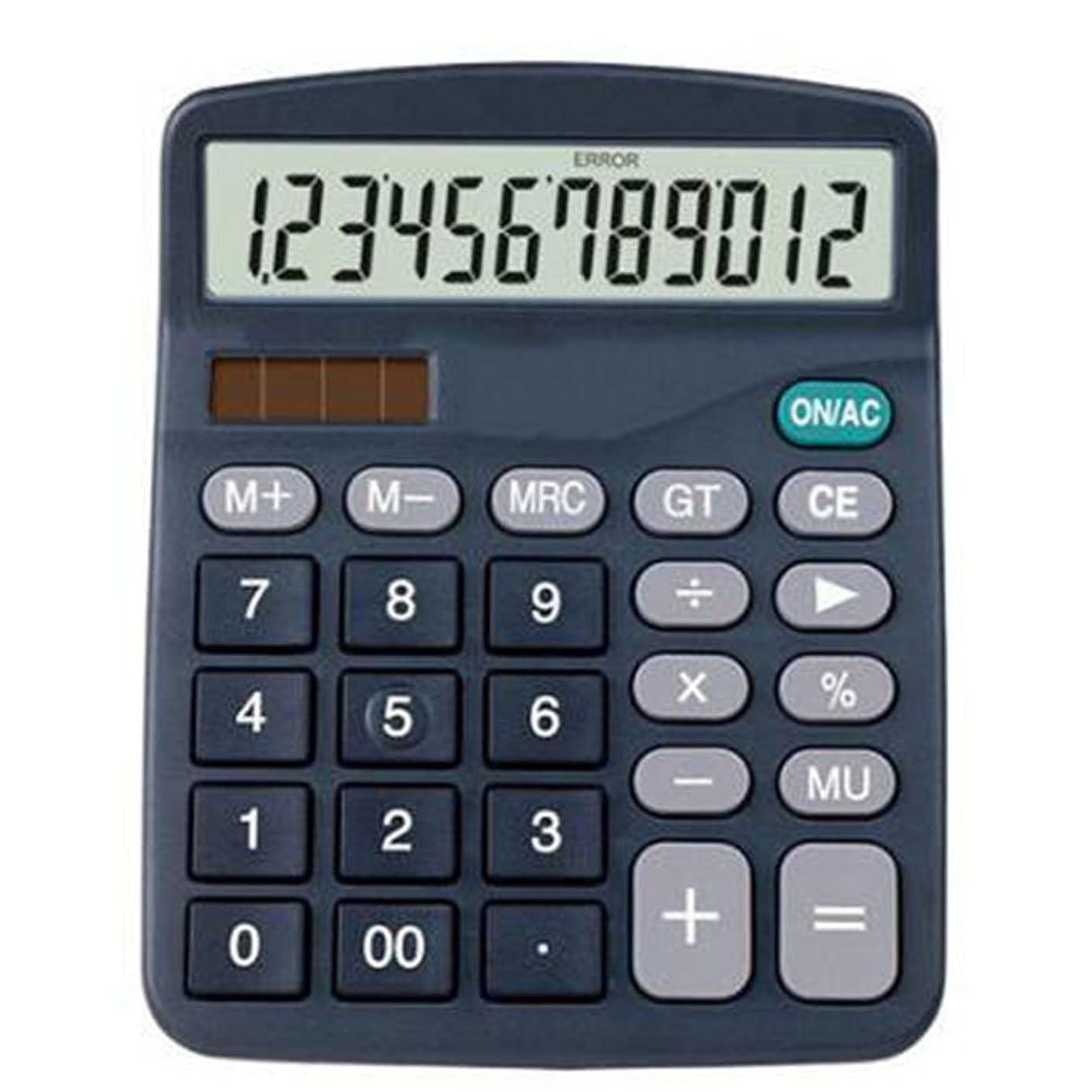 甘美なスチール約Ren He 電卓 卓上タイプ 電卓 12桁電卓 見やすい打ちやすい 大型液晶と大型ボタン 楽々使える電卓