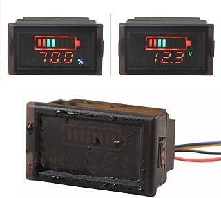 HOMREE Waterproof Design DC 12V 24V 36V 48V 60V 72V 84V 96V Acid lead/Lithium polymer/Lithium iron phosphate/NiMH Battery Capacity Indicator DC12V-96V Digital LED Tester Voltmeter Monitor