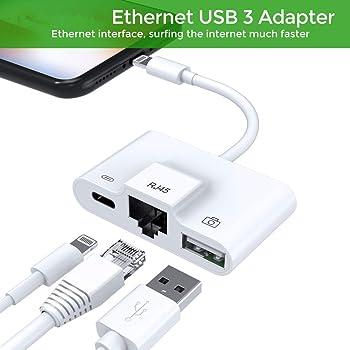 Adaptador de Red con conexión LAN a RJ45 LAN Ethernet, Adaptador ...