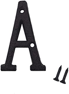 3 Inch House Letters, Cast Iron Mailbox Letter/Home Address Letter, Letter A