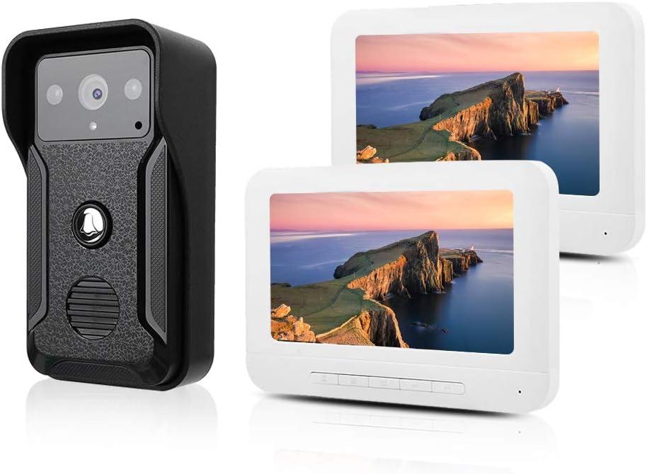 Video Door Phone Super Arlington Mall sale 7 Inch Doorbell Syste Intercom Wired LCD