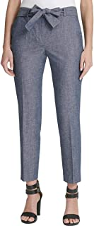 DKNY Womens Belted Business Dress Pants