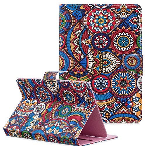 Universal 9-10 Inch Tablet Case, Coopts Slim PU Leather Flip Stand Cover with Cards Pocket for iPad 9.7 2018 2017/iPad 2 3 4/Samsung Galaxy Tab A 10.1 T510/Tab A 10.5 T590/Fire HD 10, Texture Pattern