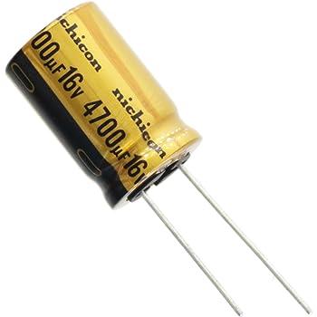 Radial Lead 63V Inc. 20/% Capacitance Tolerance NTE Electronics NEV470M63FF Series NEV Aluminum Electrolytic Capacitor 470/µF Capacitance