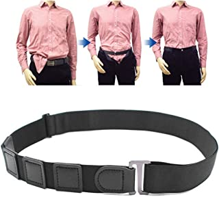 Eenten Elastic Shirt Stay, Adjustable Non-Slip Wrinkle Shirt Stay Lock Belt Keep Your Shirt Tucked in Tight Against Body f...