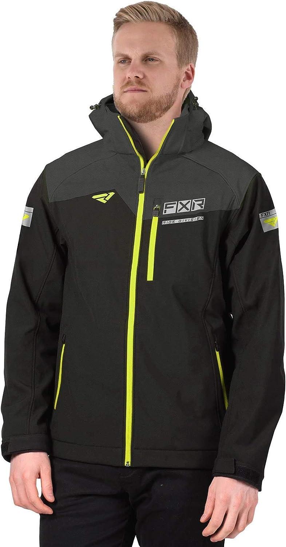 FXR Men's Renegade Softshell Jacket 2021 (Black/Hi-Vis - X-Large)