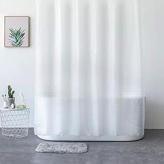 Rubik 3D Eva Shower Curtain Waterproof Luxury Transparent White Clear Mildew Stain Resistant Curtain (180x180cm)