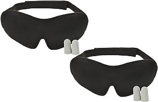 Luxury Sleep Mask with Ear Plugs - Insomnia Aid (2 Pack)
