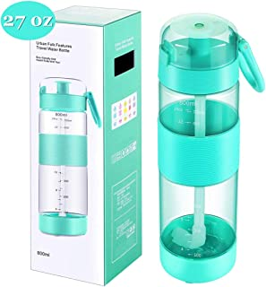 AiYlee Sports Water Bottle with Straw - 27oz Straw Water Bottle Tritan Plastic BPA Free,Meet Your Daily Use and Sports