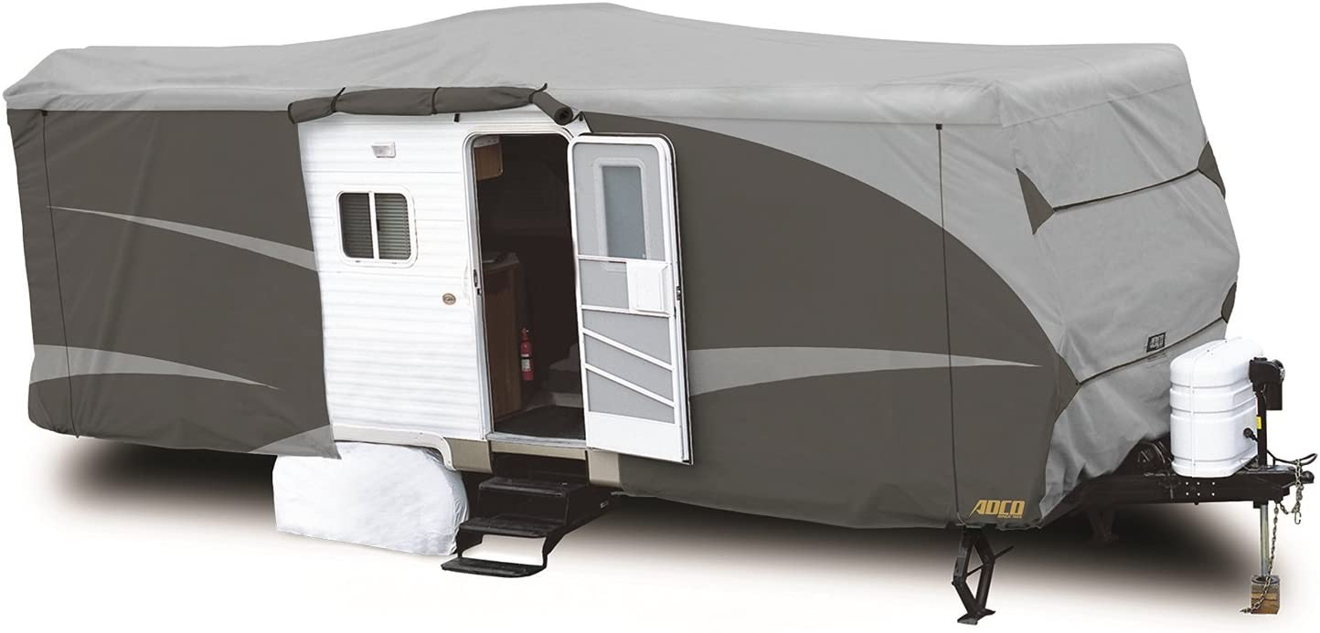 """ADCO 52244 Designer Series SFS Aqua Shed Travel Trailer RV Cover - 26'1"""" - 28'6"""", Gray: Automotive"""
