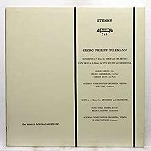 Concerto in F Minor for Oboe and Orchestra, Concerto in A Minor for Two Flutes and Orchestra, Suite in A Minor for Recorder and Orchestra