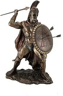 Veronese Design King Leonidas Greek Warrior of Sparta Bronze Finish Statue
