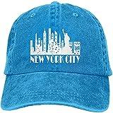 Gorra de béisbol unisex de New York City Skyline para hombre y mujer, talla única ajustable