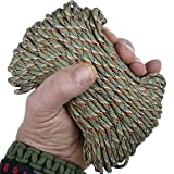 MilSpec Paracord Desert Sand 110 ft. Hank, Military Survival Braided Parachute 550 Cord. Use with Paracord Tools for Tent Camping, Hiking, Hunting Ropes, Bracelets & Projects. Plus 2 eBooks.