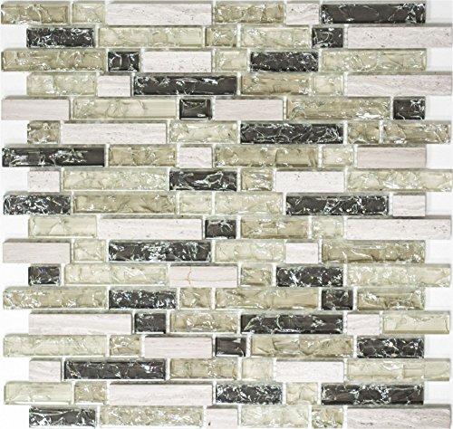 Effetto Mosaico Crush grigio Mix Line 15