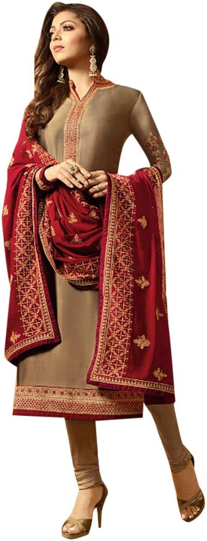 Ethnic Designer Silk Jaquard Indian Straight Salwar Kameez Muslim Festive Bespoke Tailoring Available 7191 3