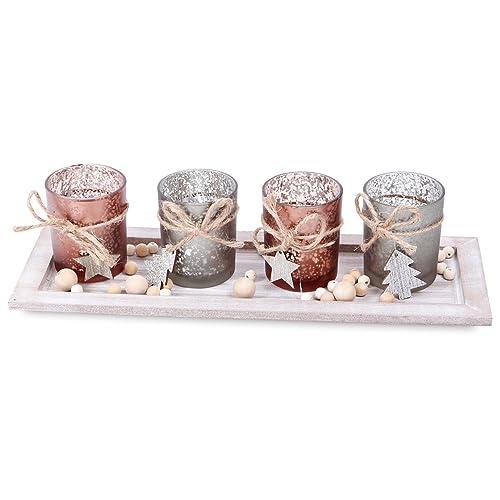 Etoiles /à paillettes Set de 3 SIKORA BS131G D/écorations de no/ël en verre souffl/é
