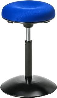 イーサプライ ハイスツール カウンターチェア ブルー 高さ調節 45~59cm EEX-CH56