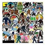 Bigfoot Yeti Stickers[50pcs] Vinyl Waterproof for Laptop Stickers,Skateboard, Hydro Flask, Water Bottle, Computer, Guitar,Luggage, Bike Bumper.Adults Teens for Stickers