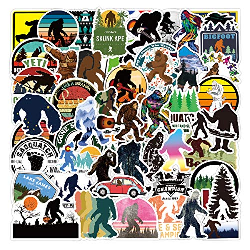 Bigfoot_Yeti Stickers[50pcs] Vinyl Waterproof for Laptop Stickers,Skateboard, Hydro Flask, Water Bottle, Computer, Guitar,Luggage, Bike Bumper.Adults Teens for Stickers