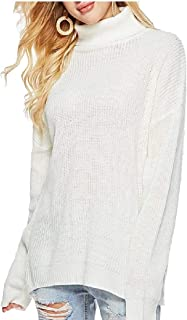 Women's Sweaters Casual Turtleneck Long Sleeve Knitted Sweater Pullover