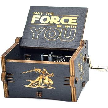 Caja de música Y&S de Star Wars en madera grabada con manivela manual. Caja de música Winter is Coming para regalo infantil, madera, Star Wars: Amazon.es: Hogar